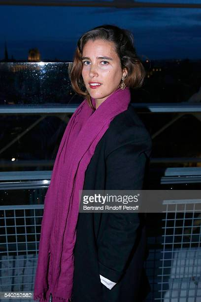 Vahina Giocante attends YSL Beauty launches the new Fragrance 'Mon Paris' at Cafe Le Georges on June 14 2016 in Paris France