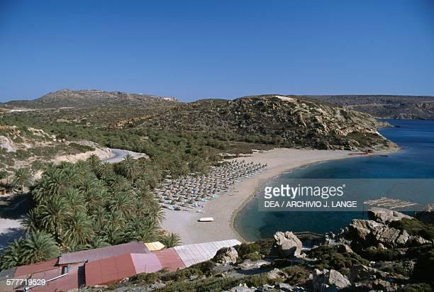 Vai beach Crete Greece