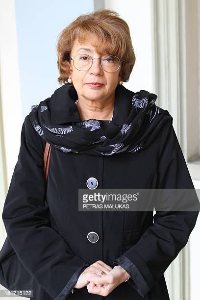 Vaidotas Beniusis Lithuanian Jewish Community Chairman Faina Kukliansky is pictured on September 23 2013 in Vilnius The 86yearold survived by hiding...