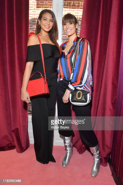 Vaimala Chaves and Laury Thilleman attend the Lancel presentation as part of the Paris Fashion Week Womenswear Fall/Winter 2019/2020 on February 27...