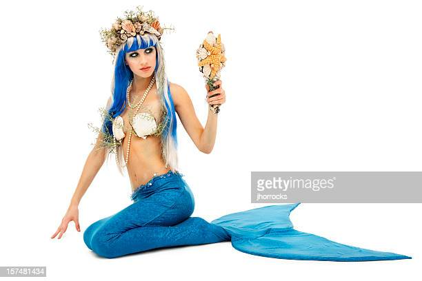 vain mermaid - mermaid stock photos and pictures