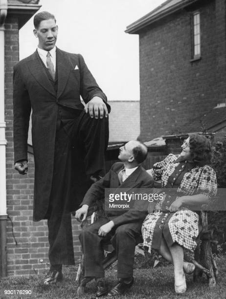 Vaino Myllyrinne the world's tallest man who's height is recorded at 8 feet 3 inches is seen here attending the wedding of Pat Collins in Birmingham...