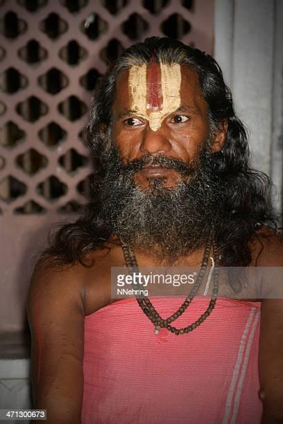 vaishnava sadhu with tilak, jaipur, india - sandalwood stock pictures, royalty-free photos & images