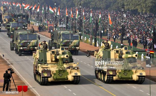 VajraT tanks during the 71st Republic Day parade at Rajpath on January 26 in New Delhi India