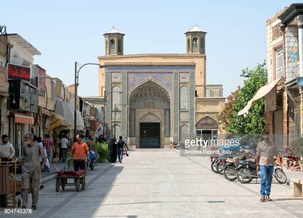 vakil mosque entrance, shiraz, iran - shiraz stock pictures, royalty-free photos & images