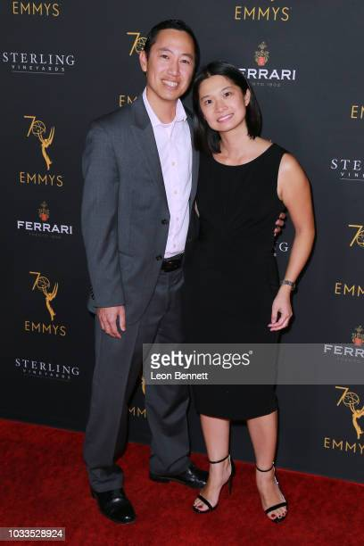 Val Cheung and guest attends the Television Academy Honors Emmy Nominated Producers at Montage Beverly Hills on September 14 2018 in Beverly Hills...