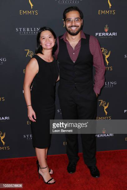 Val Cheung and Mohamed Mansoor attend the Television Academy Honors Emmy Nominated Producers at Montage Beverly Hills on September 14 2018 in Beverly...
