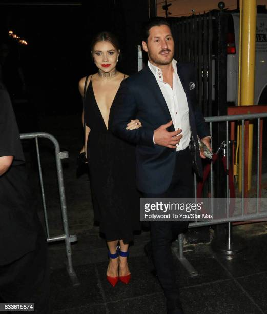 Val Chmerkovskiy and Jenna Johnson are seen on August 16 2017 in Los Angeles CA