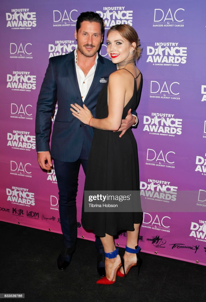 Val Chmerkovskiy and Jenna Johnson attend the 2017 Industry Dance Awards and Cancer Benefit Show at Avalon on August 16, 2017 in Hollywood, California.