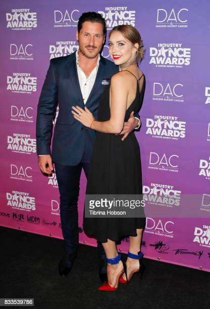 Val Chmerkovskiy and Jenna Johnson attend the 2017 Industry Dance Awards and Cancer Benefit Show at Avalon on August 16 2017 in Hollywood California