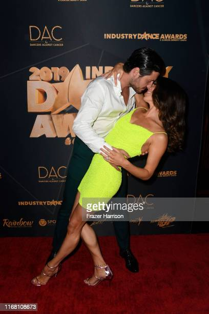 Val Chmerkovskiy and Jenna JohnsonChmerkovskiy attend the 2019 Industry Dance Awards at Avalon Hollywood on August 14 2019 in Los Angeles California