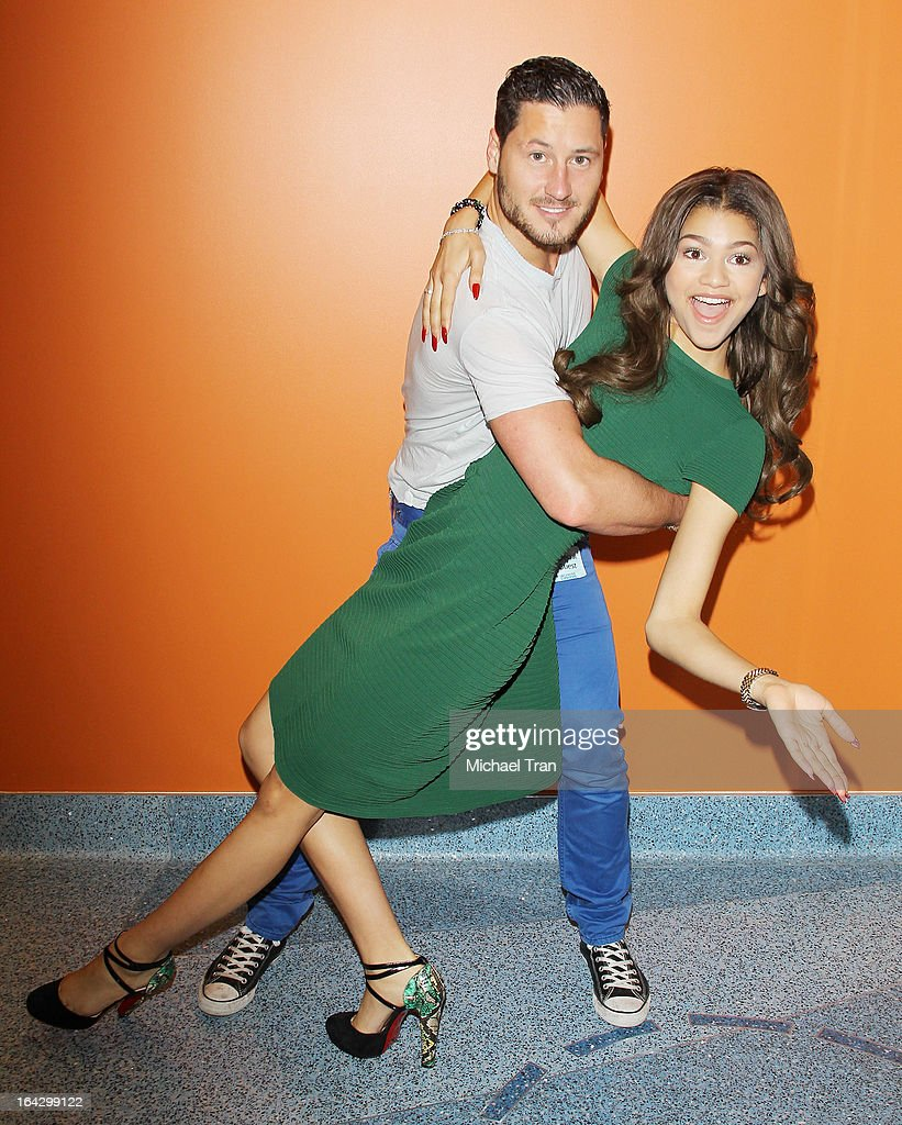 Val Chmerkovskiy (L) and Zendaya Coleman attend The Ryan Seacrest Foundation West Coast debut of new multi-media broadcast center 'Seacrest Studios' held at CHOC Children's Hospital on March 22, 2013 in Orange, California.