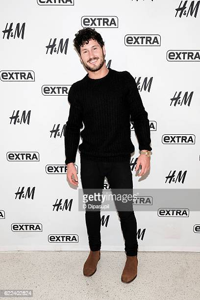 Val Chmerkovskiy visits Extra at their New York studios at HM in Times Square on November 11 2016 in New York City