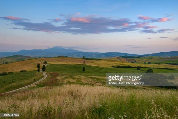 val d'orcia - tuscany, italy - utc−10:00 stock pictures, royalty-free photos & images