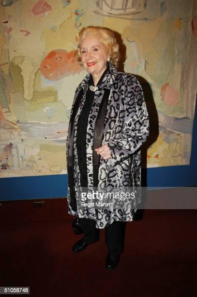 Val Jellay attends the after party for the opening night of the musical High Society at the State Theatre July 14 2004 in Melbourne Australia
