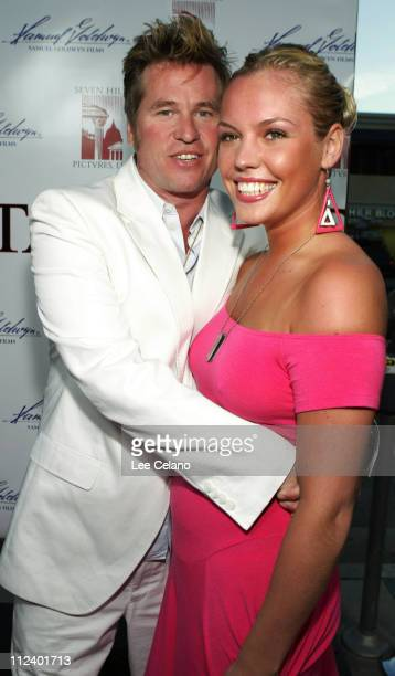 Val Kilmer and Agnes Bruckner during 'Stateside' Los Angeles Premiere Red Carpet at Westwood Crest Theatre in Westwood California United States