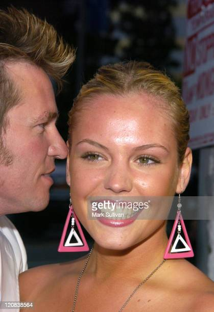 Val Kilmer and Agnes Bruckner during Stateside Los Angeles Premiere Arrivals at The Crest Theatre in Westwood California United States