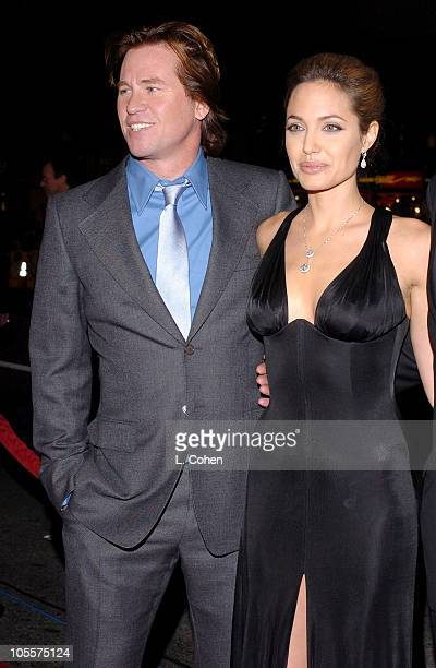 """Val Kilmer and Angelina Jolie during """"Alexander"""" Los Angeles Premiere - Red Carpet at Grauman's Chinese Theatre in Hollywood, California, United..."""
