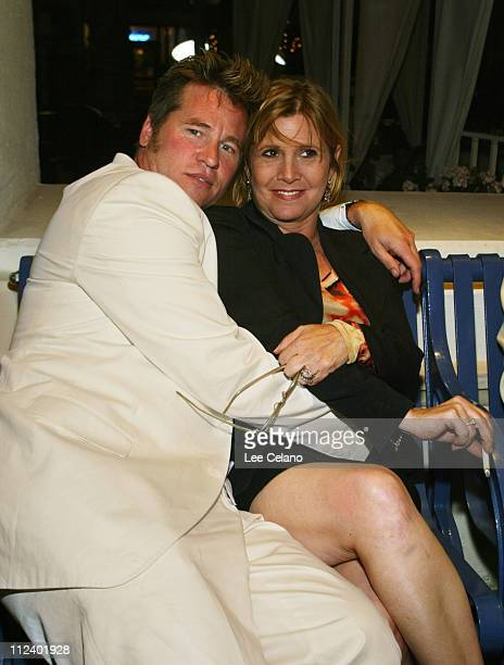 Val Kilmer and Carrie Fisher during Stateside Los Angeles Premiere After Party at Eurochow in Westwood California United States
