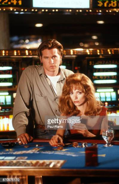 Val Kilmer and Joanne Whalley film Kill Me Again in a casino in Las Vegas February 12 1989 Las Vegas Nevada