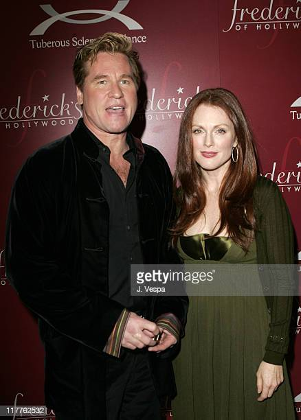 Val Kilmer and Julianne Moore during Frederick's of Hollywood Third Annual Lingerie Auction to Benefit The TS Alliance at Frederick's of Hollywood in...