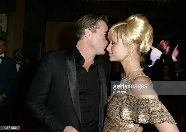 Val Kilmer and Paris Hilton during 2005 Cannes Film Festival 'Kiss Kiss Bang Bang' Premiere in Cannes France