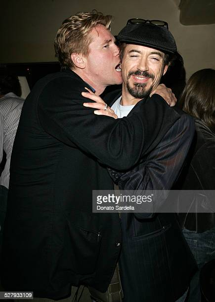 Val Kilmer and Robert Downey Jr during MercedesBenz Spring 2006 LA Fashion Week Davis Factor Dean Factor Paul DeArmas and Michael Baruch Kick Off...