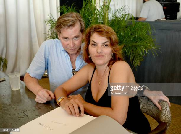 Val Kilmer and Tracey Emin attend 'The Last Ten Years Tracey Emin in Conversation with Alastair Gordon' during Art Basel hosted by Soho Beach House...