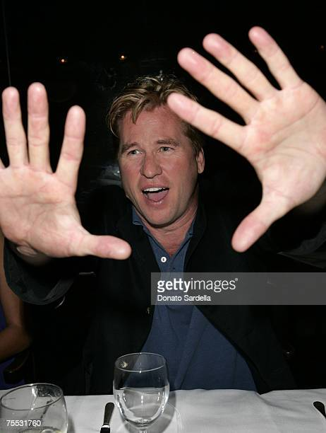 Val Kilmer at the Mr Chow Restaurant in Los Angeles California
