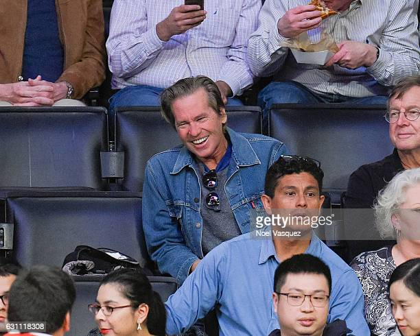 Val Kilmer attends a basketball game between the Miami Heat and the Los Angeles Lakers at Staples Center on January 6 2017 in Los Angeles California
