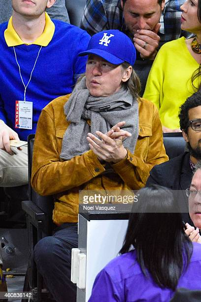 Val Kilmer attends a basketball game on Christmas between the Golden State Warriors and the Los Angeles Clippers at Staples Center on December 25...