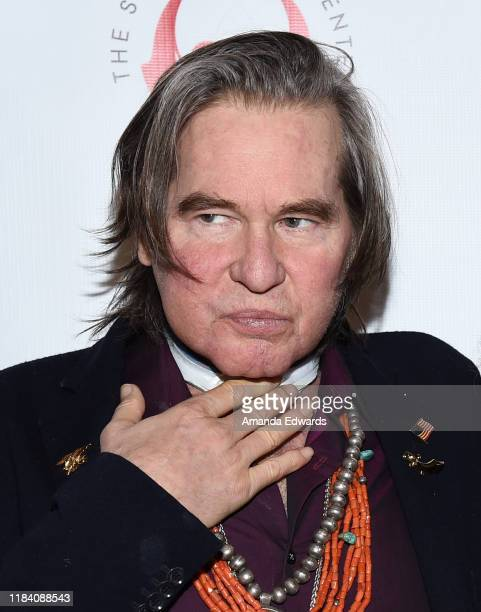 """Val Kilmer attends the Simply Shakespeare's Live Read of """"The Merchant Of Venice"""" at Walt Disney Concert Hall on October 28, 2019 in Los Angeles,..."""