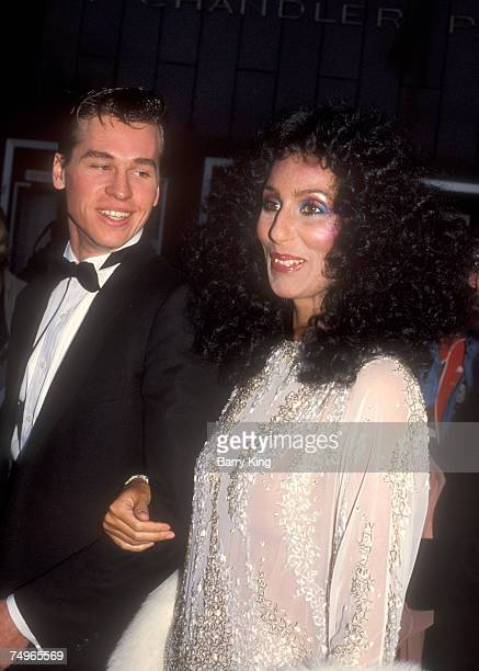 Val KIlmer & Cher at the Academy Awards in Los Angeles on April 11, 1983