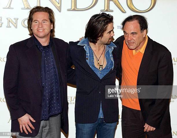 Val Kilmer Colin Farrell and Oliver Stone director