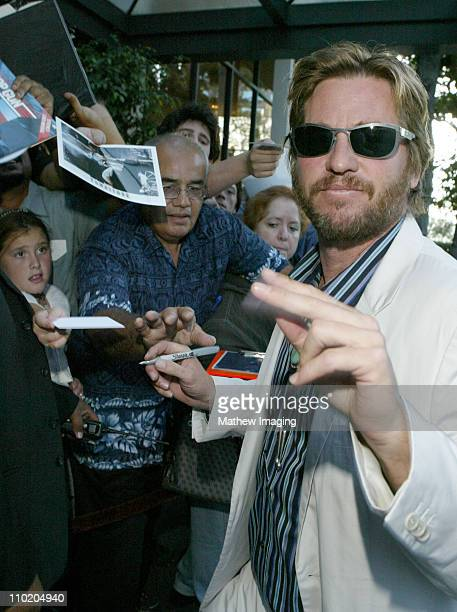 Val Kilmer during 22nd Annual Golden Boot Awards Arrivals at Sheraton Universal Hotel in Universal City California