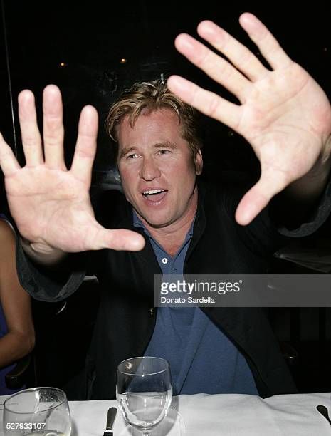 Val Kilmer during MercedesBenz Spring 2006 LA Fashion Week Davis Factor Dean Factor Paul DeArmas and Michael Baruch Kick Off Dinner at Mr Chow...