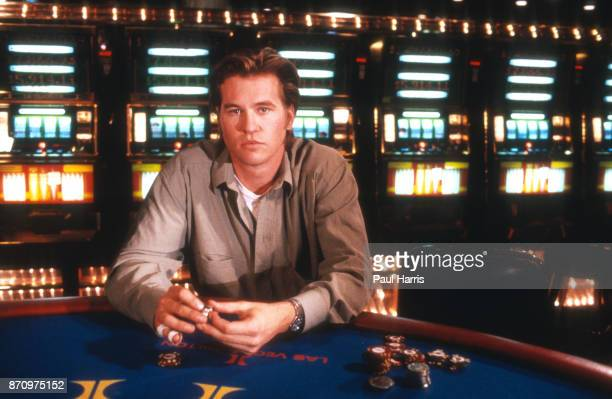 Val Kilmer films Kill Me Again in a casino in Las Vegas February 12, 1989 Las Vegas, Nevada .