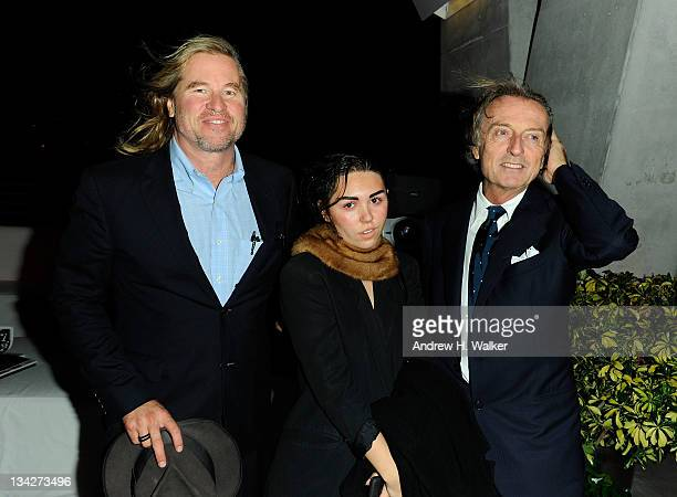Val Kilmer Mercedes Kilmer and Luca di Montezemolo attend the celebration of Ferrari's chairman Luca di Montezemolo hosted by Interview's Peter M...