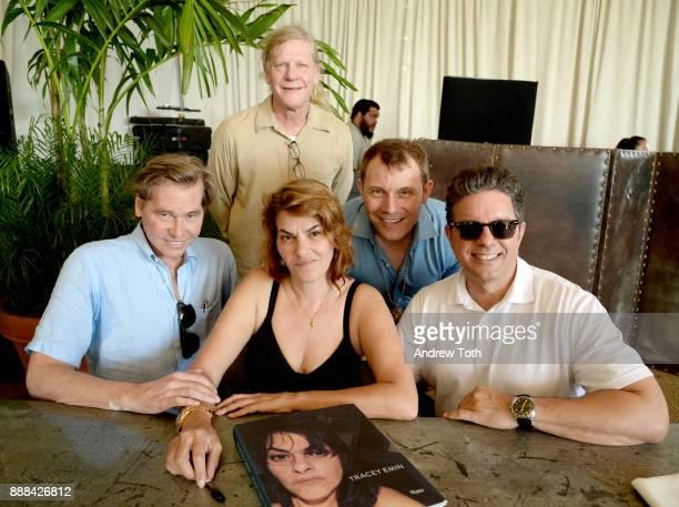 Val Kilmer Tracey Emin Jorge Perez Jason Piszctatowski and Brett Sawyer attend 'The Last Ten Years Tracey Emin in Conversation with Alastair Gordon'...