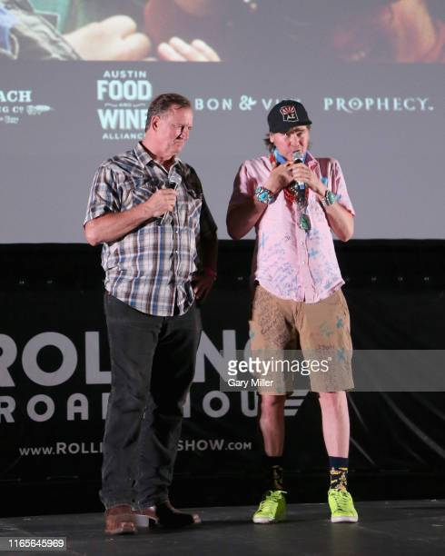 Val Kilmer who played Iceman and Barry Tubb who played Wolfman in the film introduce a special screening of Top Gun at Camp Mabry on September 1 2019...