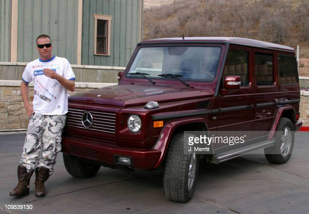 Val Kilmer with the MercedesBenz G500 during 2003 Park City Mercedes Benz in Park City in Park City Utah United States