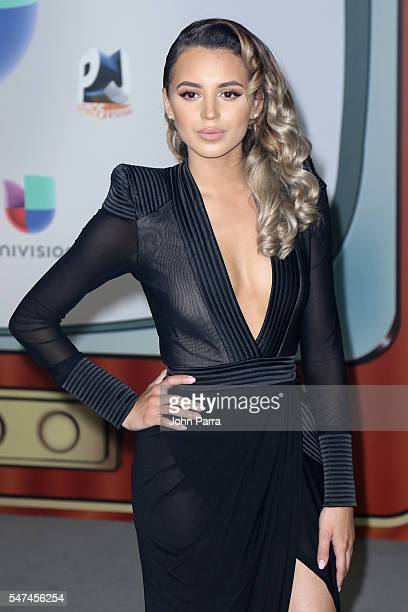 Val Mercado attends the Univision's 13th Edition Of Premios Juventud Youth Awards at Bank United Center on July 14 2016 in Miami Florida