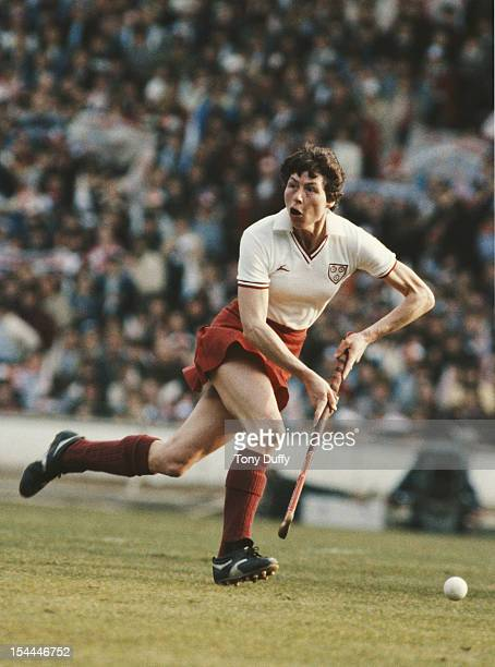 Val Robinson of England runs with the ball against West Germany on 1st June 1974 at Wembley Stadium in London Great Britain