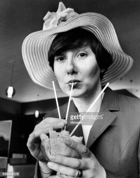 Val Thompson wearing Easter Bonnet, 25th March 1980.