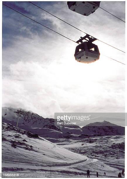 Val Thorens, funitel, aerial lift, France