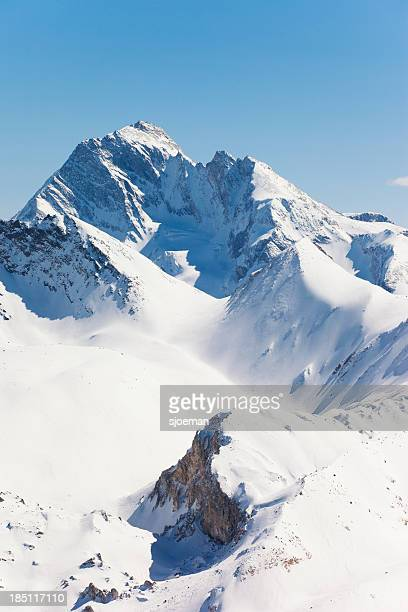 val thorens - trois vallees stock photos and pictures