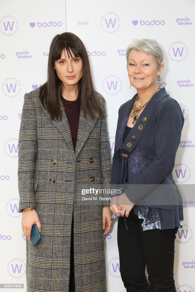 Valarie Stark (L) and Tracy Edwards attend as Badoo makes a bold statement this International Women's Day with their #WomenOfBadoo event. A special menu by Chef Tess Ward and a panel of inspirational talks from Daisy Lowe, Baroness Karren Brady and Tracy Edwards MBE, hosted by presenter Gemma Cairney. On March 8, 2018 in London, England