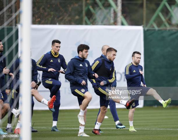 Valbuena of Fenerbahce attends a training session ahead of the 2nd half of Turkish Super Lig at Belek Tourism Center in Serik district of Antalya...