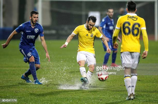 Valbuena of Fenerbahce in action during the practice match between Fenerbahce of Turkey and Kukesi of Albania in Serik district of Antalya Turkey on...