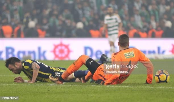 Valbuena of Fenerbahce in action during the Turkish Super Lig soccer match between Bursaspor and Fenerbahce at Timsah Arena in Bursa Turkey on...